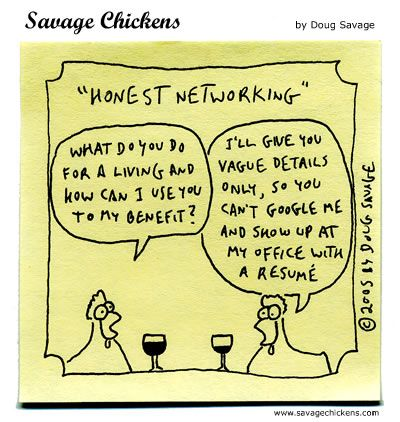 A Networking Lesson for Life Come Recommended - Networking - young professional resume