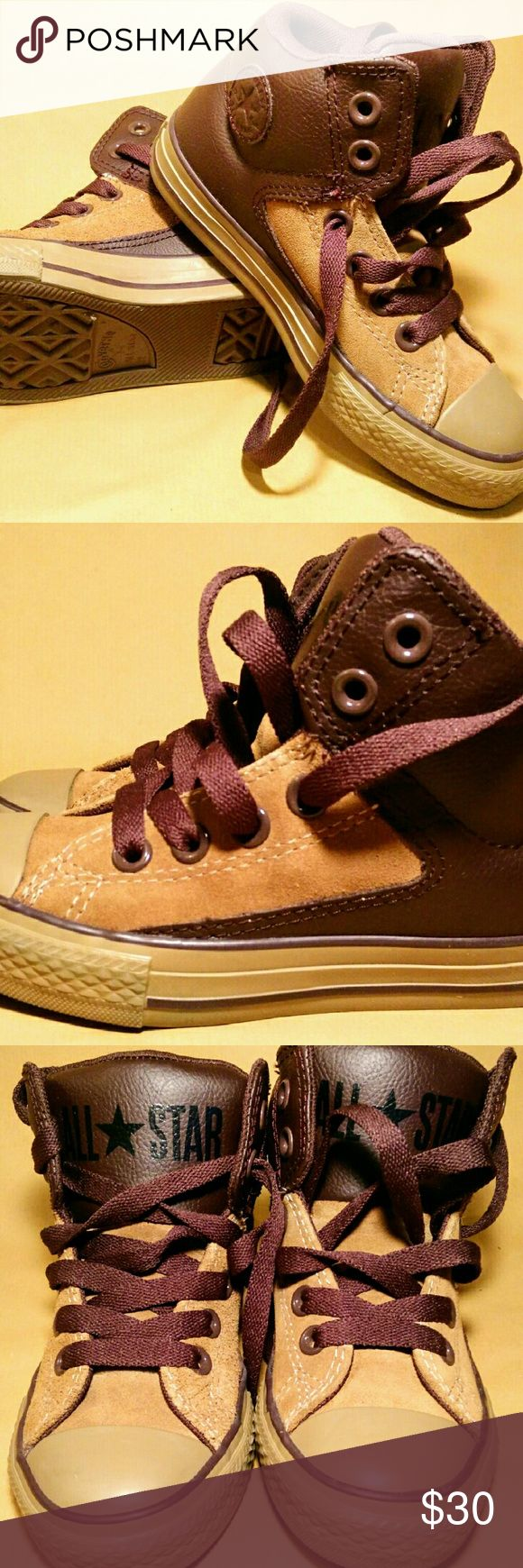 Converse Chuck Taylor Brown Converse Chuck Taylor all star street high top sneaker Converse Shoes Sneakers