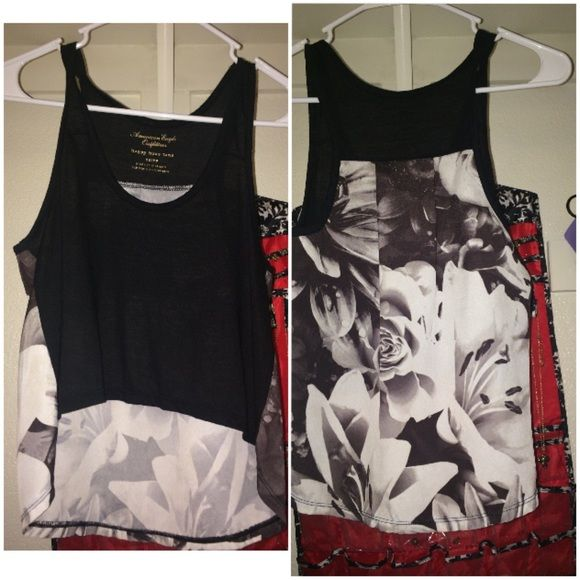 American eagle happy hour tank Beautiful date night or bar night tank top ! Perfect condition ! Worn one time American Eagle Outfitters Tops Tank Tops