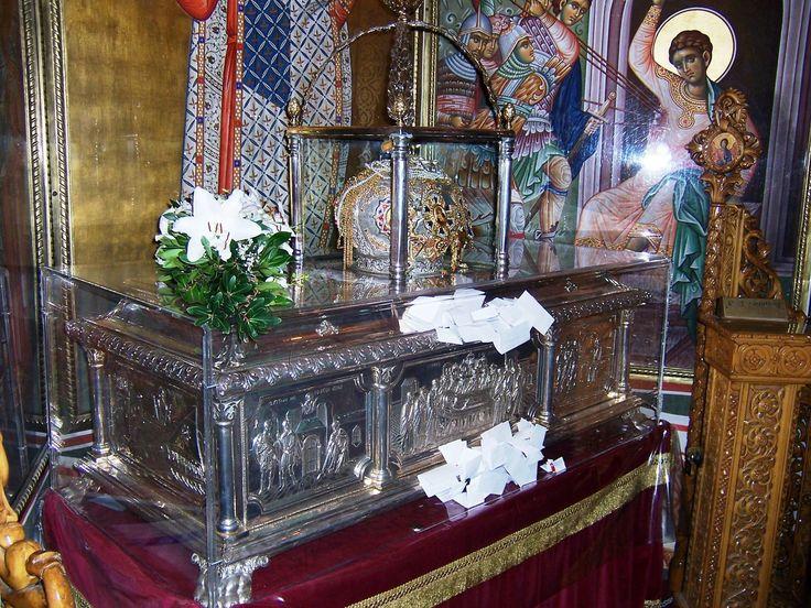 The relics of St. Demetrios, the Myrrh-Streaming.