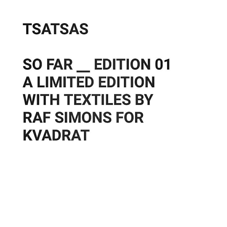 TSATSAS - SO FAR_EDITION 01 - A LIMITED EDITION WITH TEXTILES BY - resume computer skills section
