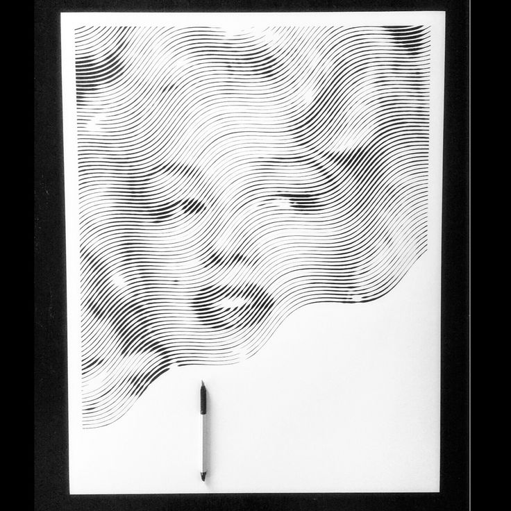 Paper art portrait #MarilynMonroe #paperart #cutpaper #stripedart #blackandwhite #paper