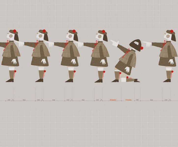 Estudiante revolucionario. ilustracion para revista digital ¨tiempo de balas¨