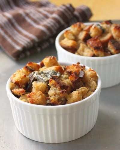 I'm calling this savory Gorgonzola bread pudding because that's what they called it at the restaurant I stole the idea from. Hey, that's the...