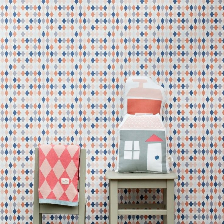 New In!! 'Happy' wallpaper - it certainly makes us smile! Online now in the Whats New section #FermLiving #wallpaper #harlequin #blanket #happy #PhotoFermLiving #ThisModernLife