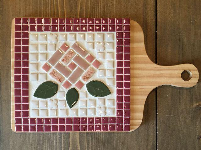 すぐに始められる タイルクラフト用鍋敷きセット ローズ Crafts Diy Mosaic