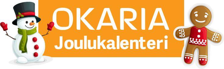 Avaa luukku ja voita joka päivä palkintoja! http://www.okaria.fi/joulukalenteri/