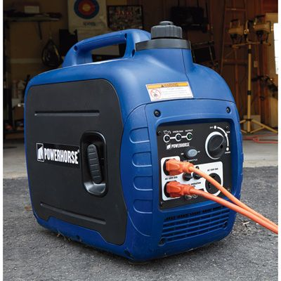 This Powerhorse Portable Inverter Generator is super quiet and super reliable for powering everything from sensitive electronics to power tools.