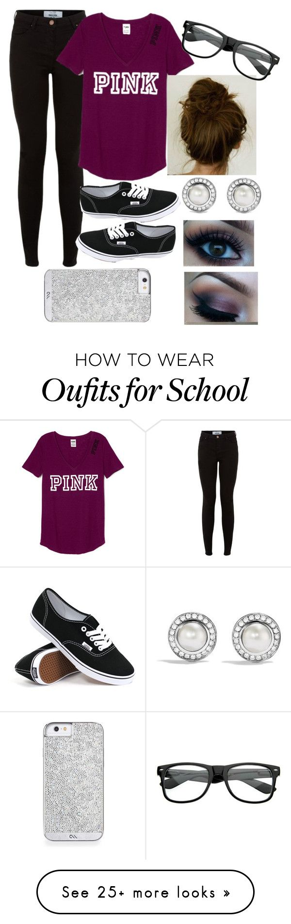 """""""casual day at school"""" by juliagstrange422 on Polyvore featuring Vans, David Yurman, women's clothing, women's fashion, women, female, woman, misses and juniors"""