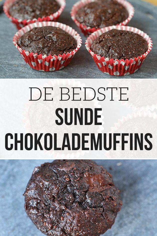 De her chokolademuffins er ikke bare svampede og lækre - de er også sunde! Det er næsten for godt til at være sandt.
