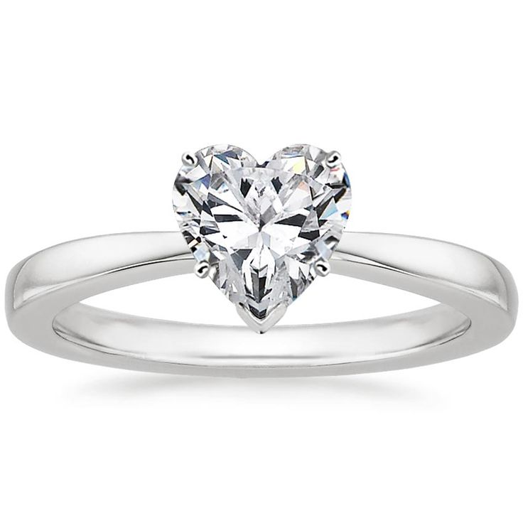 18K WHITE GOLD PETITE TAPER RING