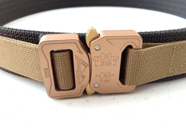 "Cobra 1.5"" EveryDay Belt - Coyote Brown Buckle, Black Scuba, and Marpat Brown webbing"