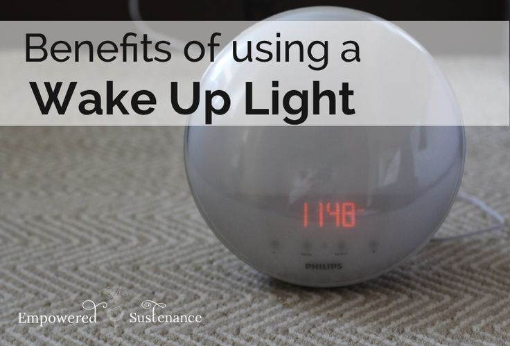 Wake Up Light benefits include better cortisol levels, natural melatonin balance, and no more morning heart attacks from an alarm clock.