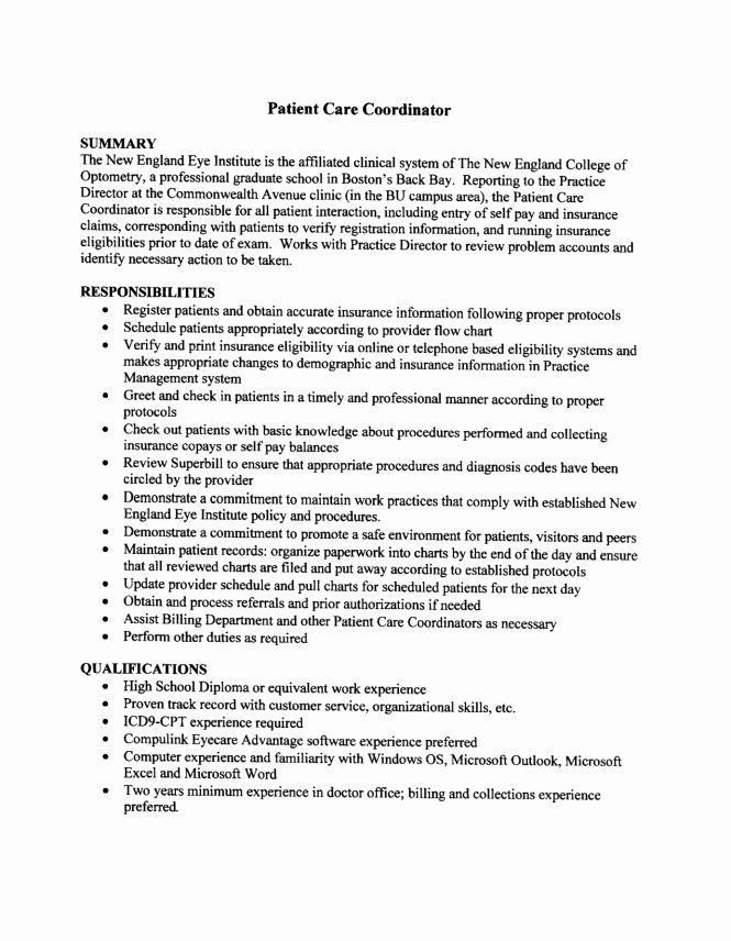 23 Health Unit Coordinator Job Description Resume in 2020 ...