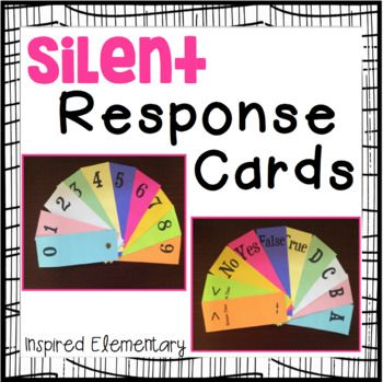 Silent Response Cards can be used for ANY SUBJECT and for ANY GRADE LEVEL!!!! No more frustration for students waiting to be called on...they ALL PARTICIPATE! Yay! These cards are perfect for warm-up activities, subject matter review, transition times or