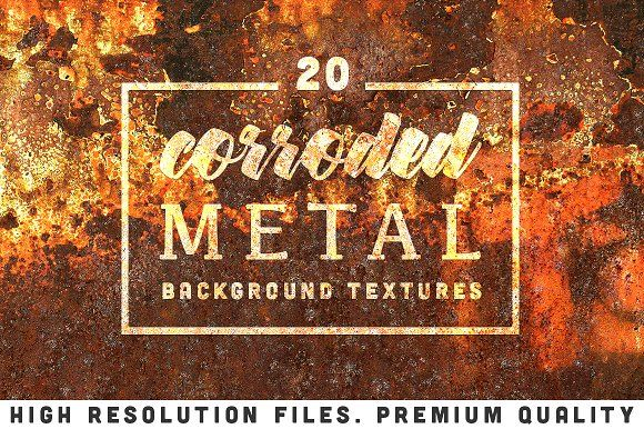 20 Corroded Metal Textures by sanches812 on @creativemarket