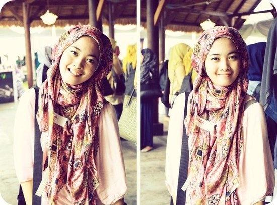 Pink Batik Hijab   Nanda Indriana