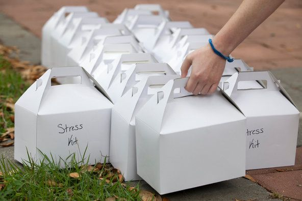 Anxious Students Strain College Mental Health Centers - Stress kits were distributed at an event at the University of Central Florida's Center for Counseling and Psychological Services. The kits included a stress ball, mints and crayons.
