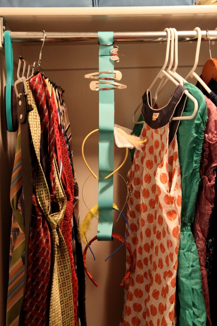 DIY Hair Accessory Holder Hang In Closet