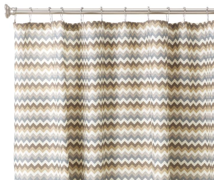 """Multi-Color Chevron Hotel Luxury Shower Curtain, (72"""") at Big Lots."""