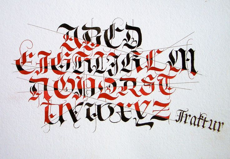 Fraktur Alphabet Exercise Calligraphy And Lettering