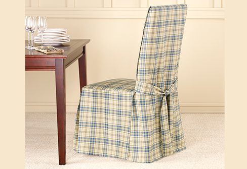 Lexington Plaid Dining Chair Covers Fun With Slipcover