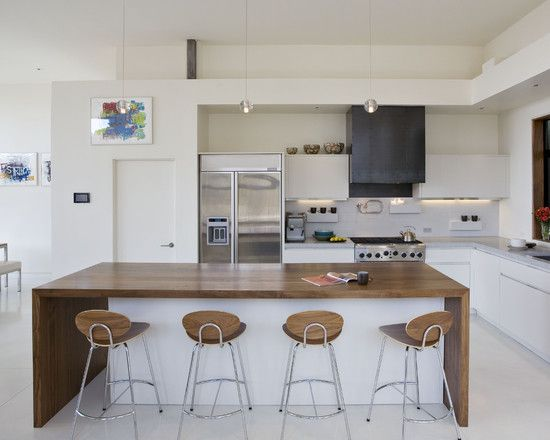 Contemporary Kitchen White Kitchen Timber Floors Design, Pictures, Remodel, Decor and Ideas - page 21