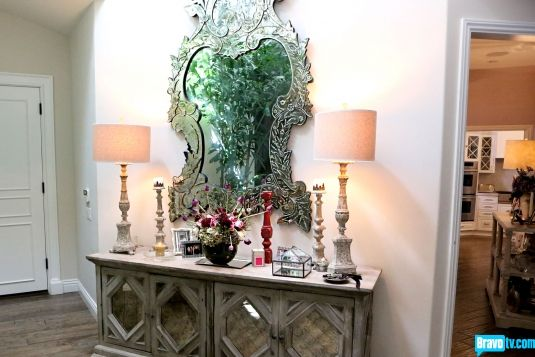 Beverly Foyer Mirror : Tour kyle richards home homes of other celebs