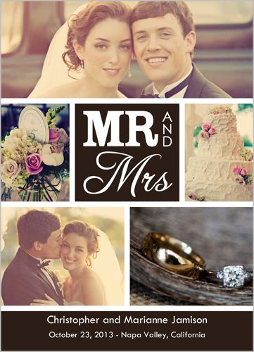 New Mr Mrs Wedding Announcement --- for those who couldn't come, like family members out of the country.