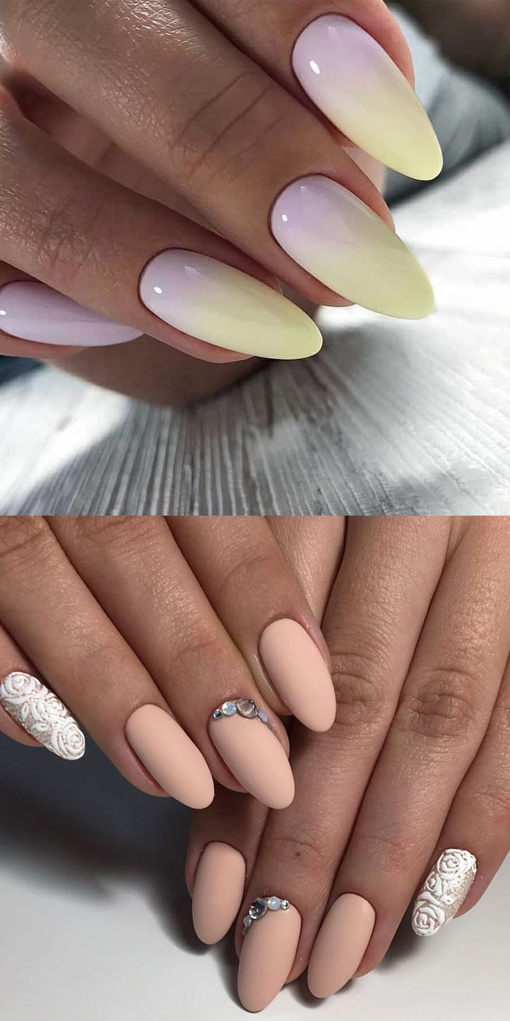 Spring manicure 2020 fashion trends pastel colors in