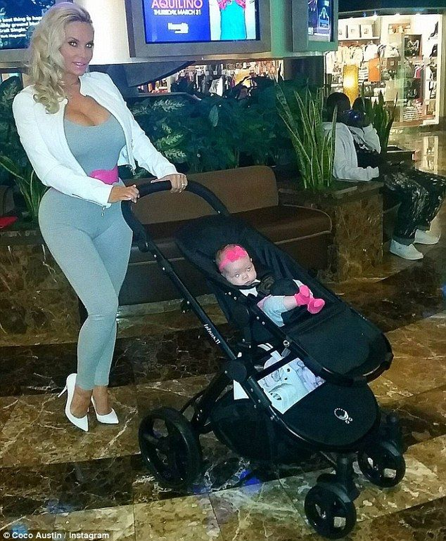 Devoted: Coco Austin is a hands-on mom to four-month-old daughter Chanel