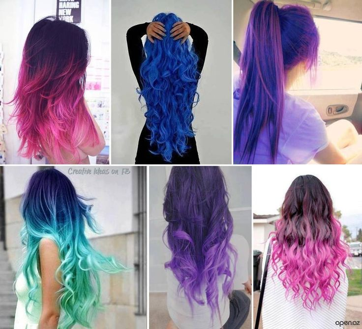 Ombre Hair Bright Colors
