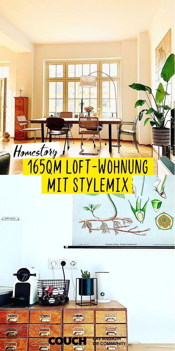Loftwohnung mit Stylemix in 2020 | Loft wohnung, Wohnung, Loft
