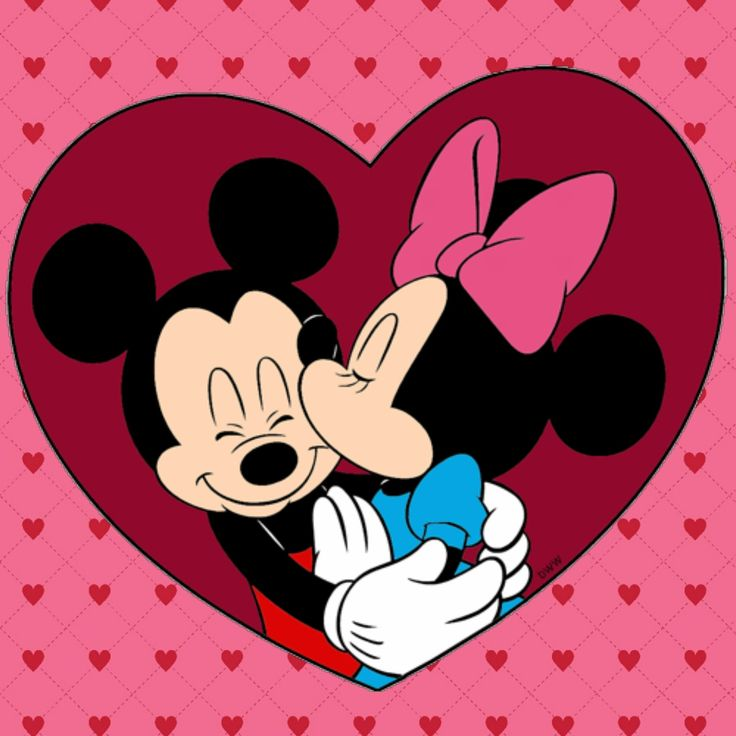 Mickey get's what he needs from Minnie, a sweet smooch.