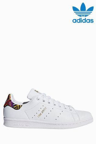 adidas Originals White Pink Print Stan Smith  d2737bb577