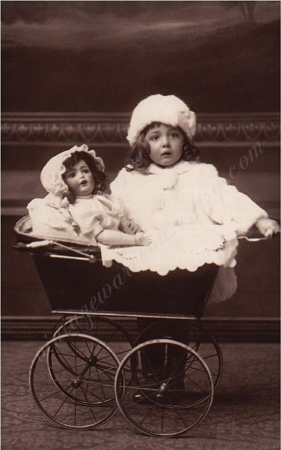 Antique Girl and DOLL PHOTO ANNA Precious by vintagewarehouse, $2.00