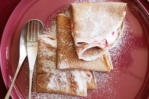 Chocolate Crepes with Raspberry Cream