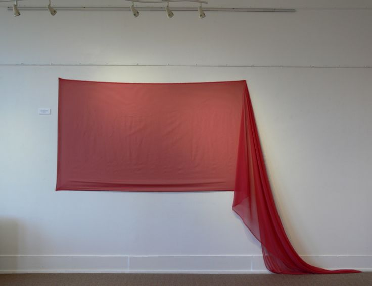 'Revealing Red Transparency', Dancing with the Conventions of Painting, Exhibition by Lisa Corston-Buddle, June 2013