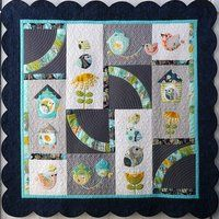 Bird Song Quilt Pattern  CODE: BirdSongQuiltPattern This is a cute bird theme applique quilt pattern that is simple to follow with great instructions. Finished Size is 165CM squared.