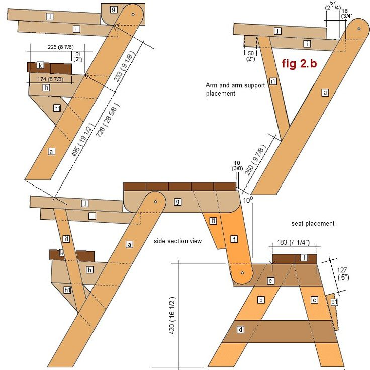 1 piece folding picnic table plans