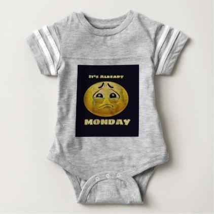 #Monday Blues Baby Bodysuit - #monday #mondays