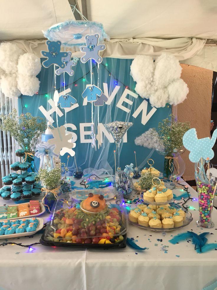 65 best heaven sent baby shower theme images on pinterest. Black Bedroom Furniture Sets. Home Design Ideas