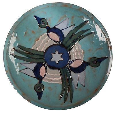 QUEBEC-Art-Pottery-Charger-PLATE-Michel-Jolivet-Shawinigan-1952-DUCK-MOTIF-13