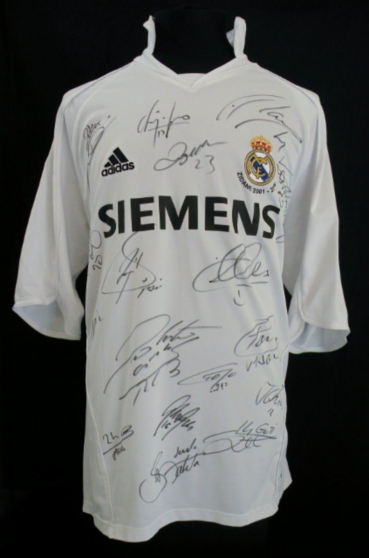 Real Madrid signed shirt