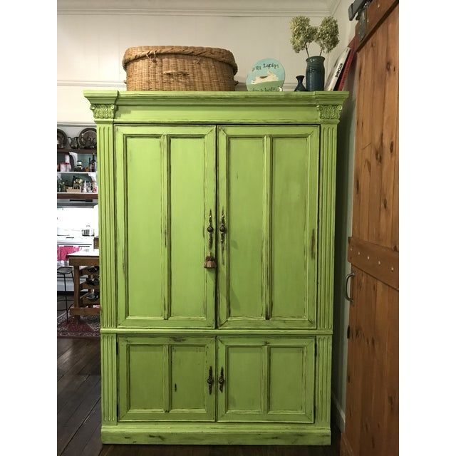 Vintage Painted Armoire Chairish Painted Armoire Armoire Vintage Painting