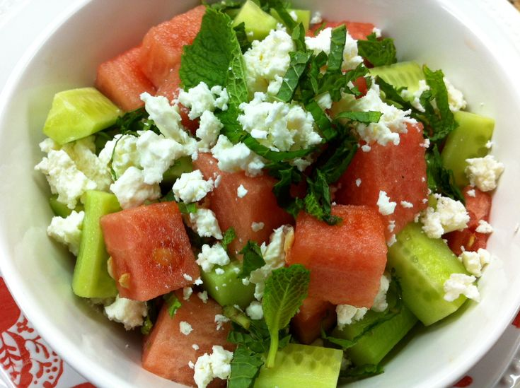 Check out Summer watermelon & cucumber salad with feta ...