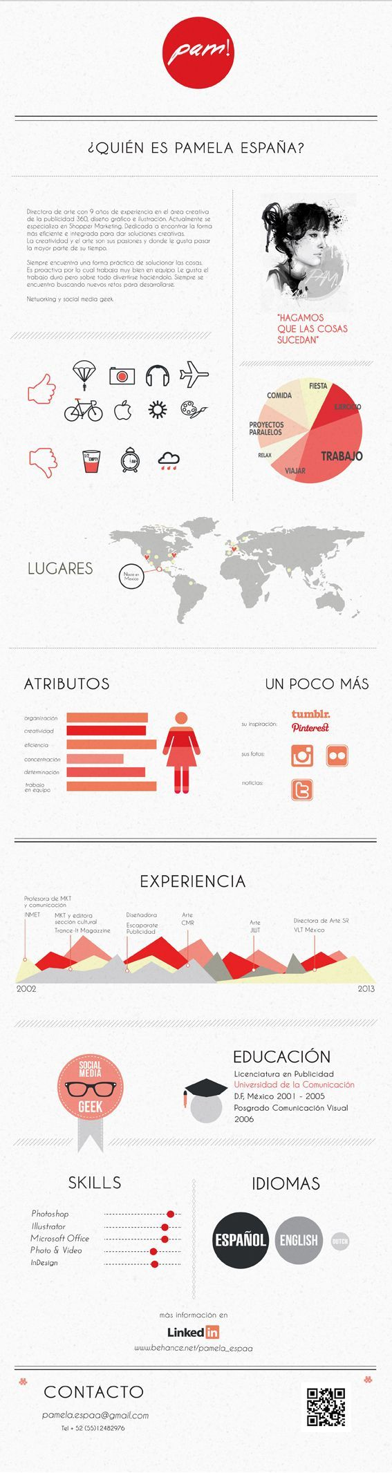 Marketing  -- Self Promotion / Stationary by Pamela España, via Behance