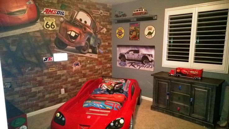 Little Boys Garage Themed Bedroom SWM Decorating Pinterest Boys Boy B