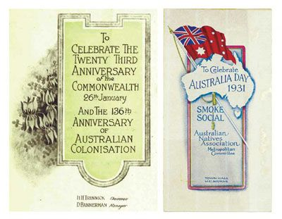 Celebrating Australia Day in 1901. From the Australia Day National Website: http://www.australiaday.org.au/australia-day/history/1901-federation/