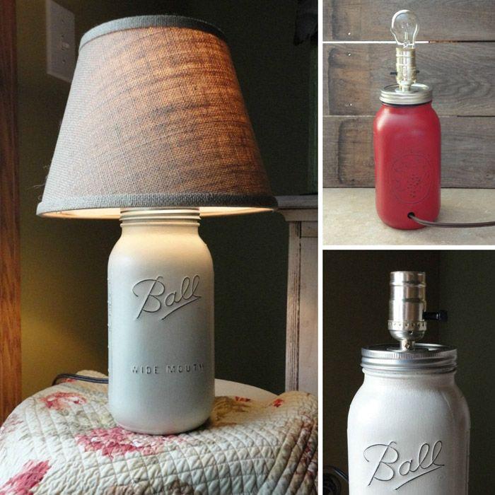 die besten 25 einmachglaslampe ideen auf pinterest glas lampen einmachglas leuchten und. Black Bedroom Furniture Sets. Home Design Ideas